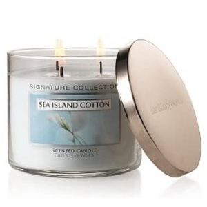 Sea Island Cotton 3 Wick Candle Bath & Body Works